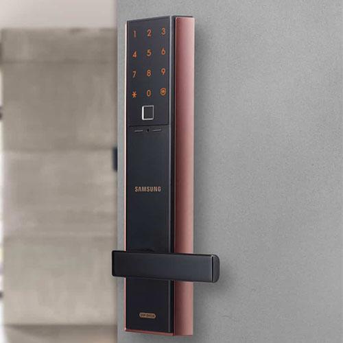 Khóa cửa điện tử-SAMSUNG SHP-DH538 Khóa vân tay, mã số thiết kế mới của  SAMSUNG